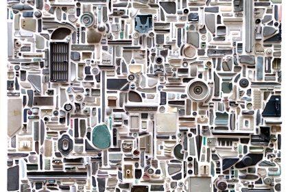 Matter (Combination Piece - Grey, Square, No1). 2013.