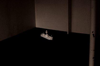 Ghost Song installation onboard Light Vessel 21. Siren – Signal. 2011
