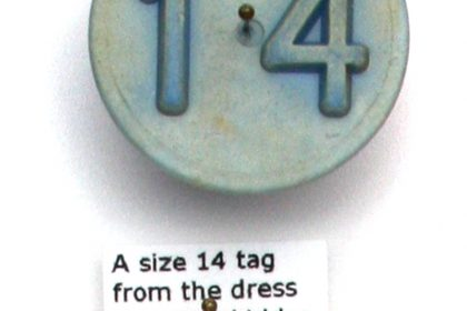 20 Numbered Objects (Including Game Counters & Garment Size Tags). 2009.