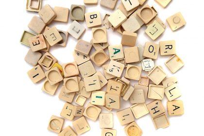 Scrabble Piece Collection. 2015