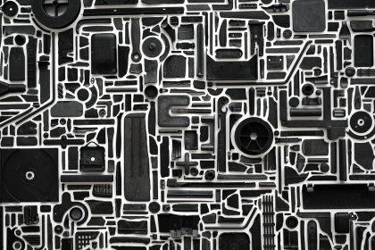 Combination Piece – Black (Backshadows), 2018.