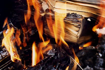 Books burning - Burning books. 1998