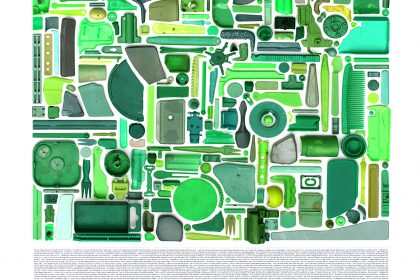 Combination Piece- (Green  No1). 2010.