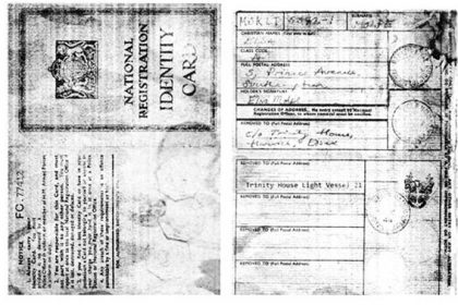 The Secret history of Light Vessel 21. 2011. Former crew Identity Card