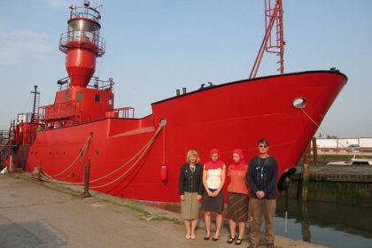 The Secret history of Light Vessel 21. 2011. Light Vessel Historical Society outside LV21