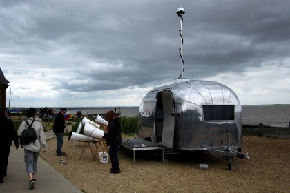 'Lost - Song' Fog Horn Intervention at the kent Cultural Baton during the Whitstable Biennale 2010