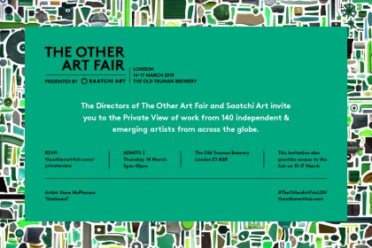 The Other Art Fair. UK. 2019. Private View Invite