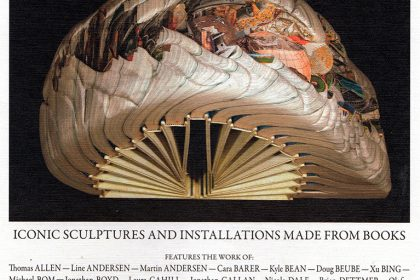 Book Art Iconic Sculptures and Installtions Made From Books. Germany. 2011