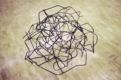 Energic. 1998. Welded Steel. Dimensions approx approx 1.5x1.5m
