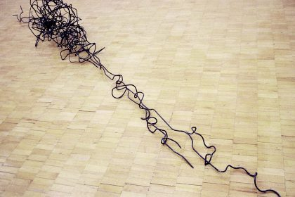 Morphogenisis. 1998. Welded Steel. Dimensions approx 6x1x1m
