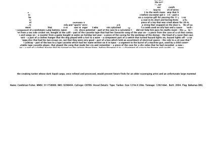 'Cumbrian Fisher. MMSI: 311758000'. 2009.