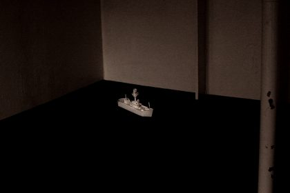 Ghost Song installation onboard Light Vessel 21. Siren – Signal. 2011