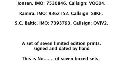 Cargo Ship Print Names